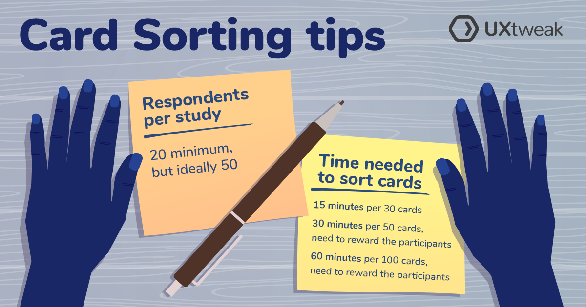 card sorting tips