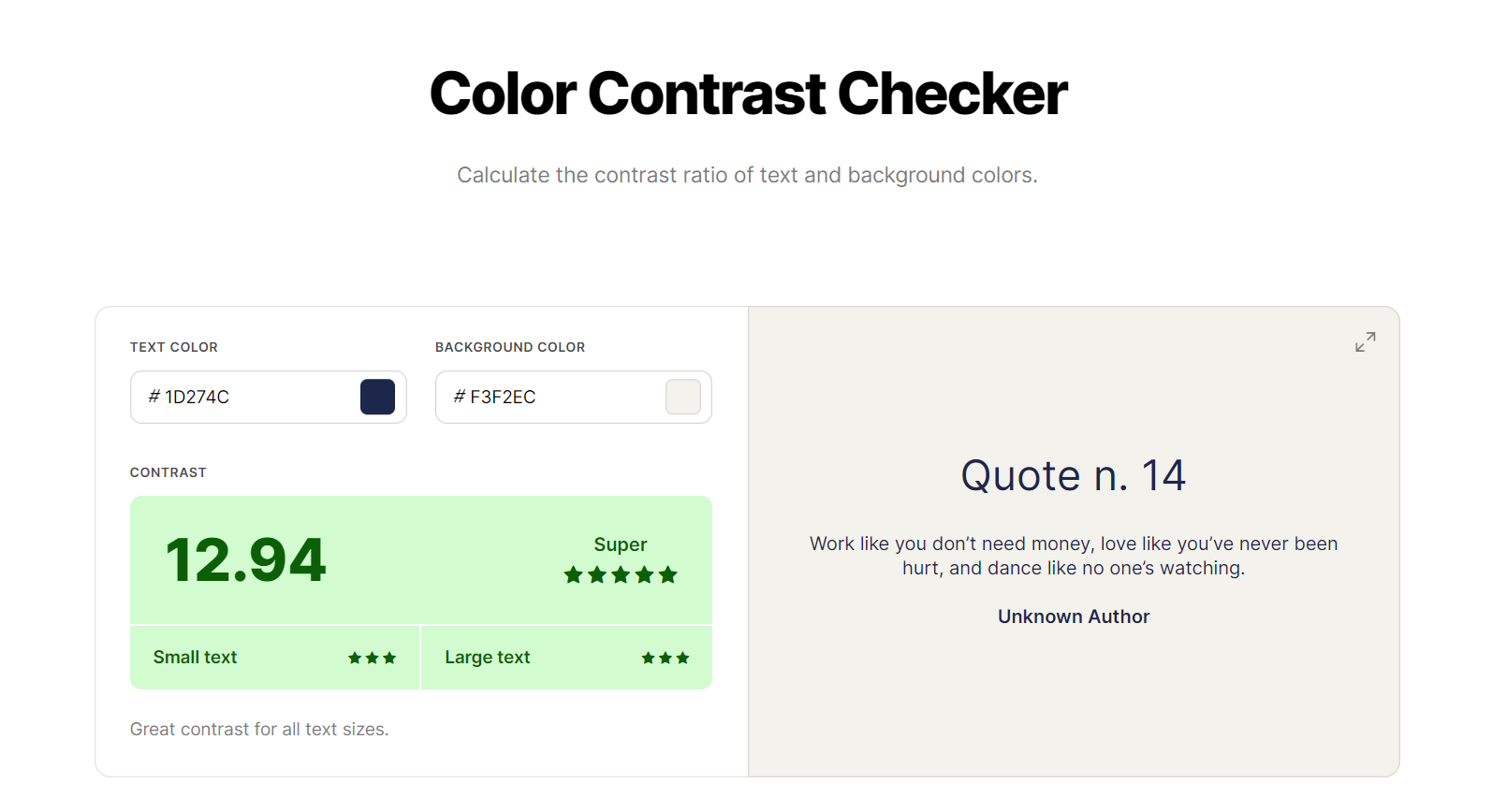 color contrast for good user experience