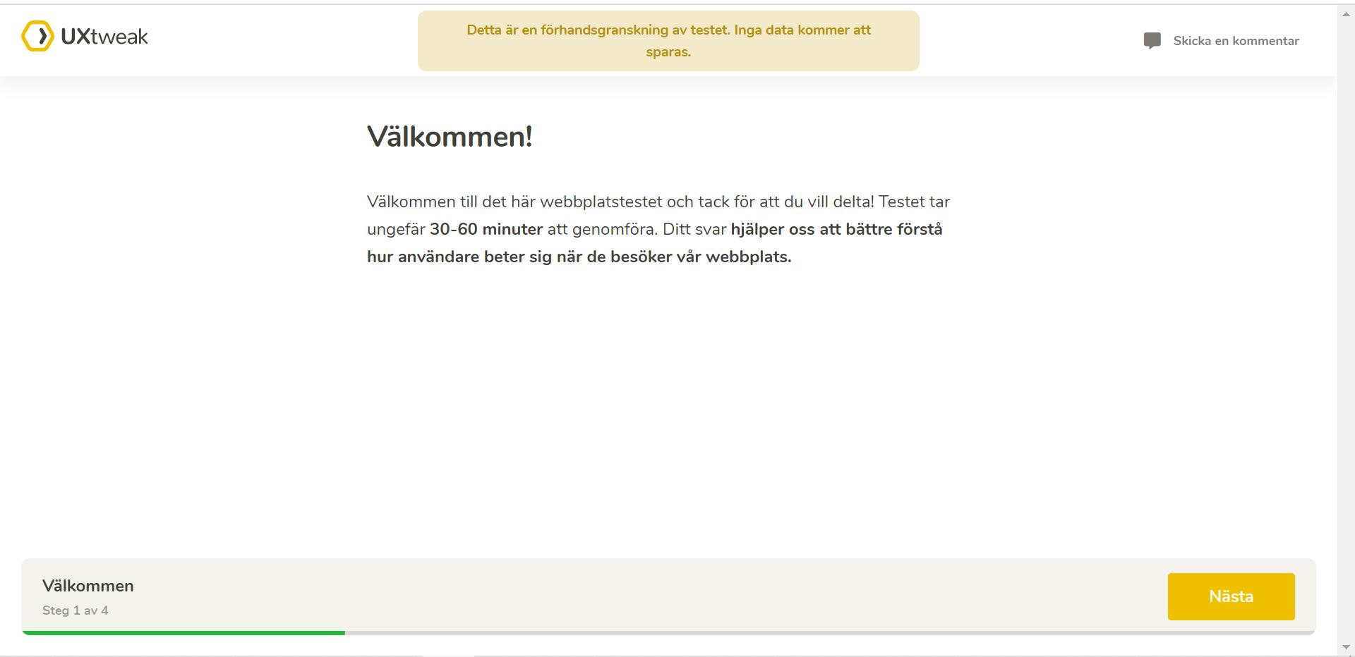 swedish language in UXtweak tools