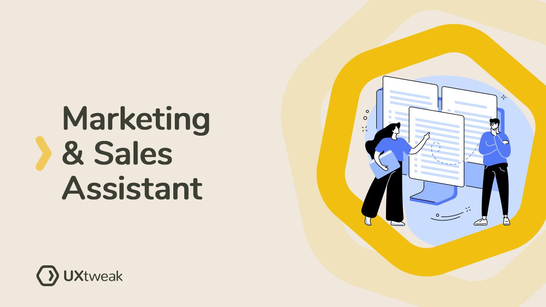Marketing & Sales Assistant pre UXtweak