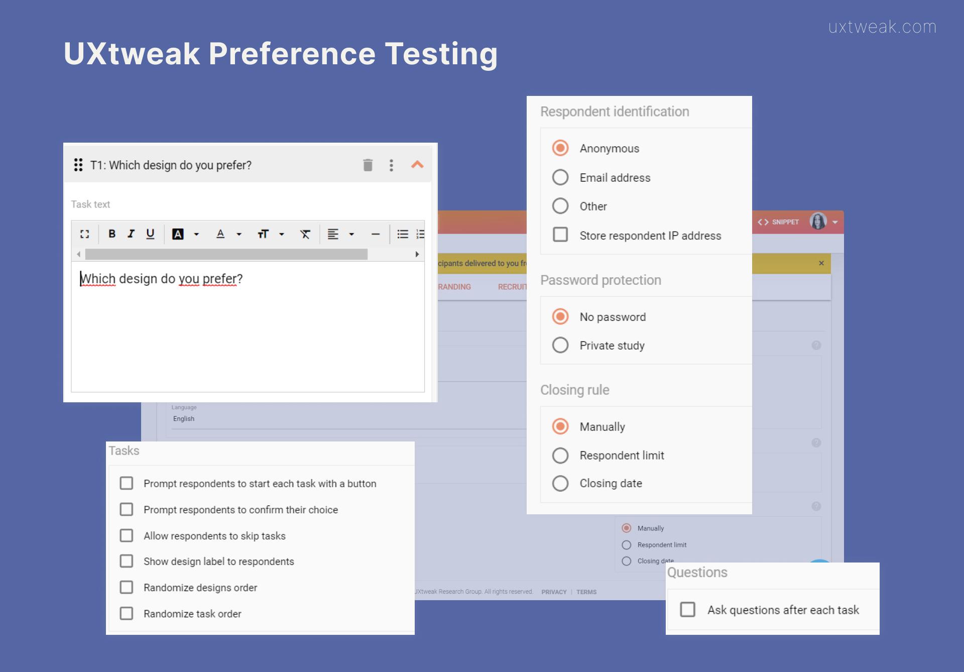 uxtweak preference testing tool