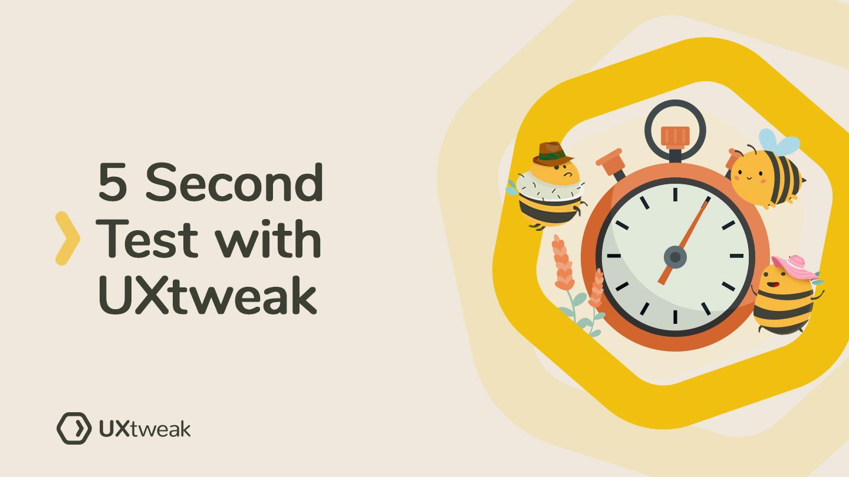Five Second Test with UXtweak