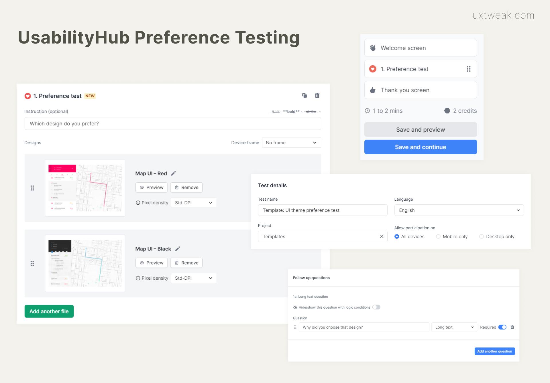 UsabilityHub preference testing tool