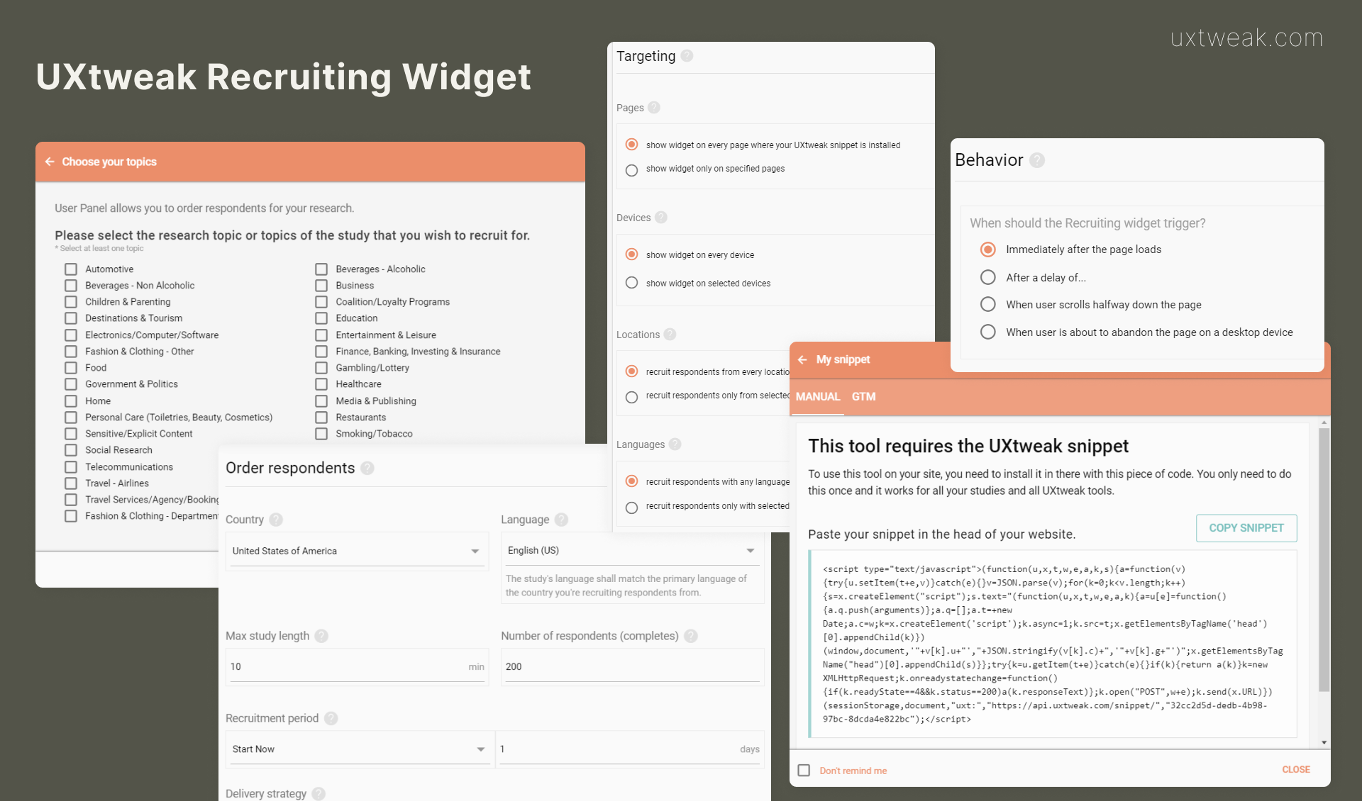 UXtweak recruiting widget